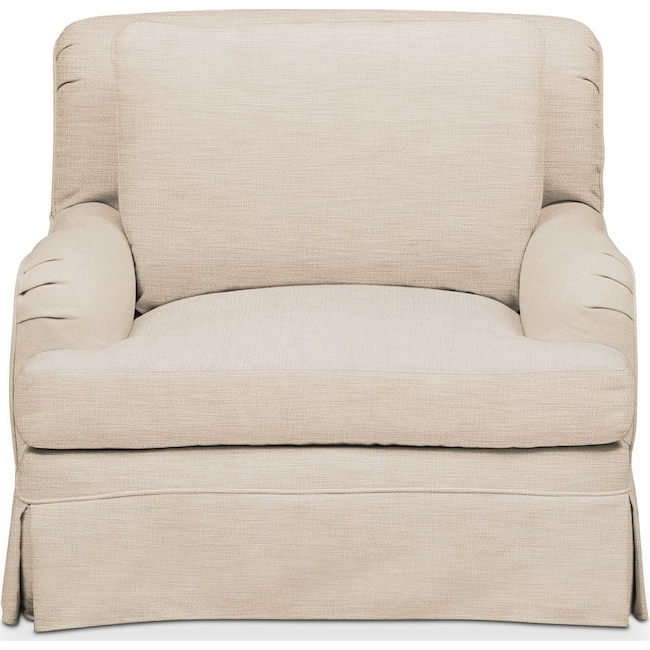 Living Room Furniture - Campbell Chair- Comfort in Victory Ivory