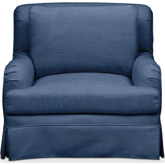 Living Room Furniture - Campbell Chair- Comfort in Hugo Indigo