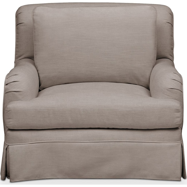 Living Room Furniture - Campbell Chair- Comfort in Abington TW Fog