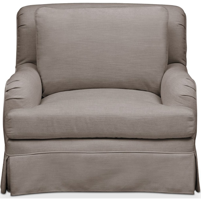 Living Room Furniture - Campbell Chair- Cumulus in Oakley III Granite