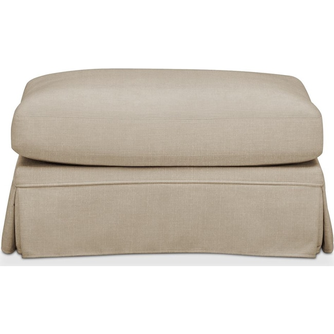 Living Room Furniture - Campbell Ottoman- Comfort in Depalma Taupe