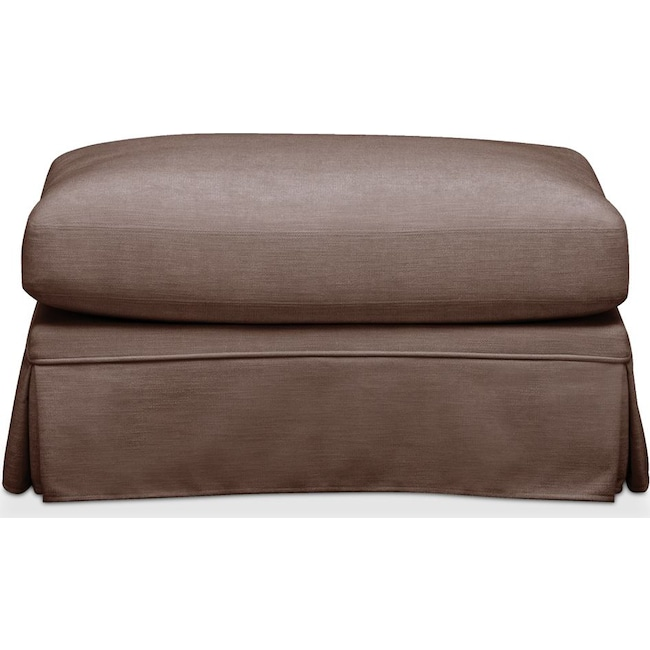 Living Room Furniture - Campbell Ottoman- Comfort in Oakley III Java