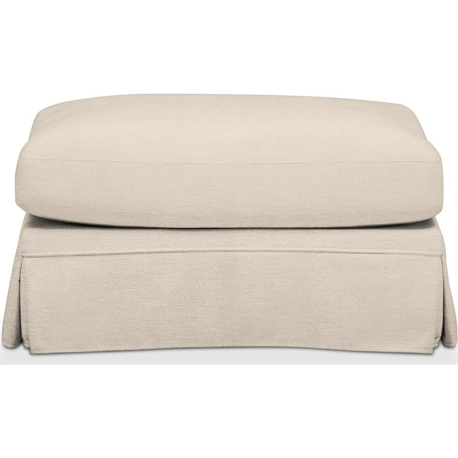 Living Room Furniture - Campbell Ottoman- Comfort in Curious Pearl