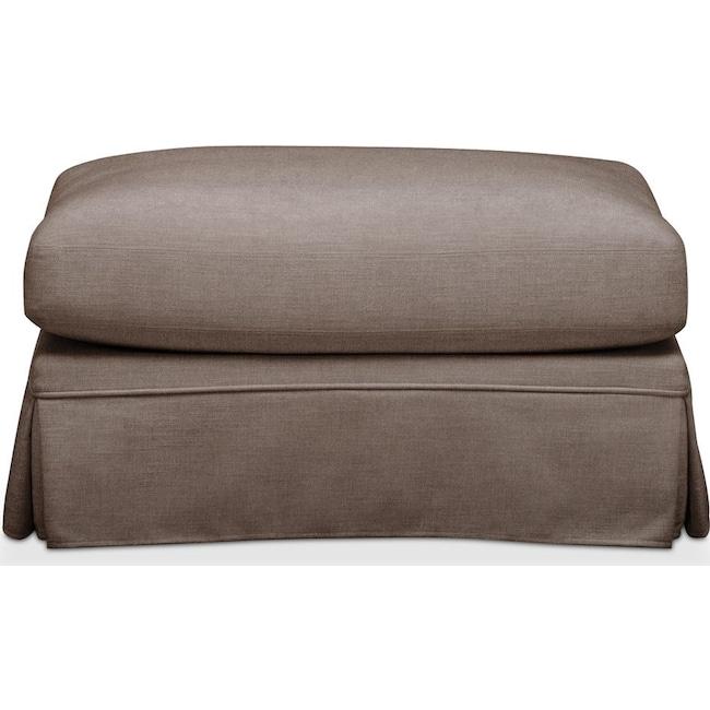 Living Room Furniture - Campbell Ottoman- Comfort in Hugo Mocha