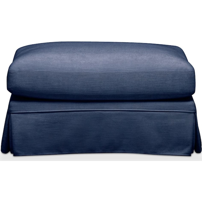 Living Room Furniture - Campbell Ottoman- Comfort in Abington TW Indigo