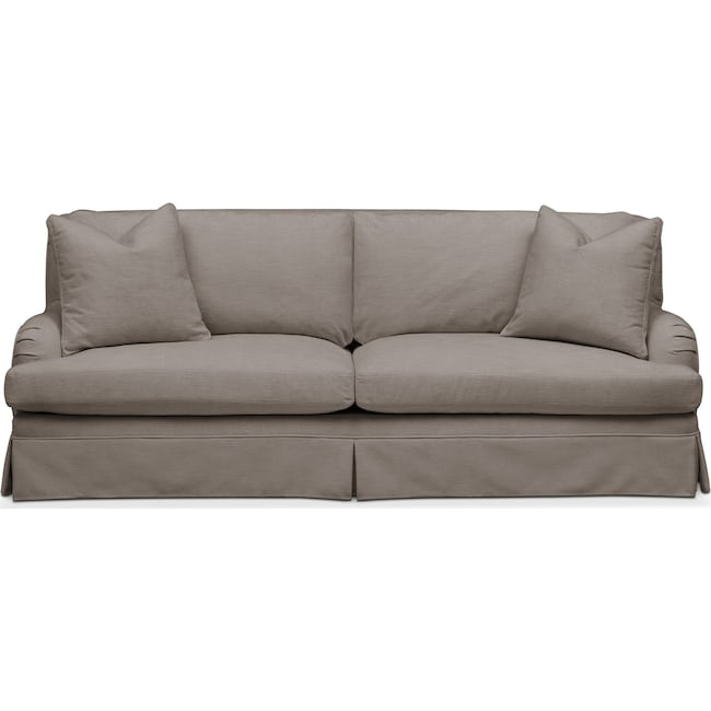 Living Room Furniture - Campbell Sofa- Comfort in Oakley III Granite