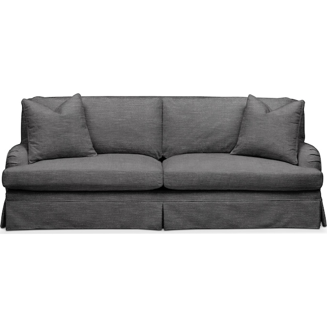 Living Room Furniture - Campbell Sofa- Comfort in Curious Charcoal