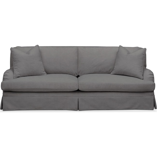 Living Room Furniture - Campbell Sofa- Comfort in Hugo Graphite
