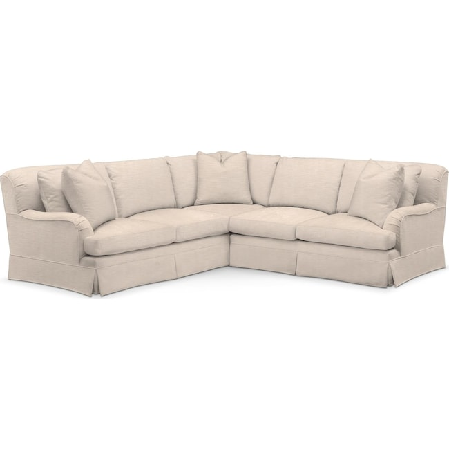 Living Room Furniture - Campbell 2-Piece Sectional with Right-Facing Loveseat - Comfort in Dudley Buff
