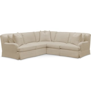Campbell 2 Pc. Sectional with Right Arm Facing Loveseat- Cumulus in Depalma Taupe