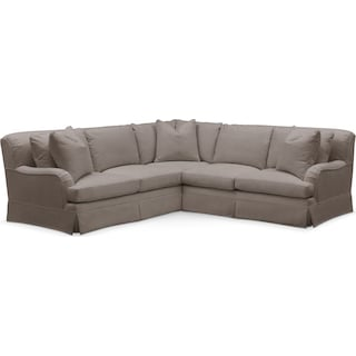 Campbell 2 Pc. Sectional with Right Arm Facing Loveseat- Cumulus in Oakley III Granite
