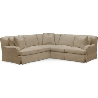 Campbell 2 Pc. Sectional with Right Arm Facing Loveseat- Cumulus in Milford II Toast