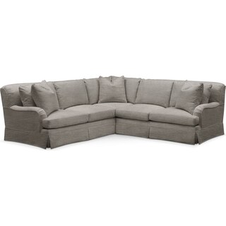 Campbell 2 Pc. Sectional with Right Arm Facing Loveseat- Cumulus in Victory Smoke