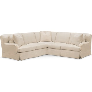 Campbell 2 Pc. Sectional with Right Arm Facing Loveseat- Cumulus in Victory Ivory