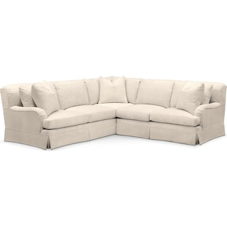 Campbell 2 Pc. Sectional with Right Arm Facing Loveseat- Cumulus in Curious Pearl