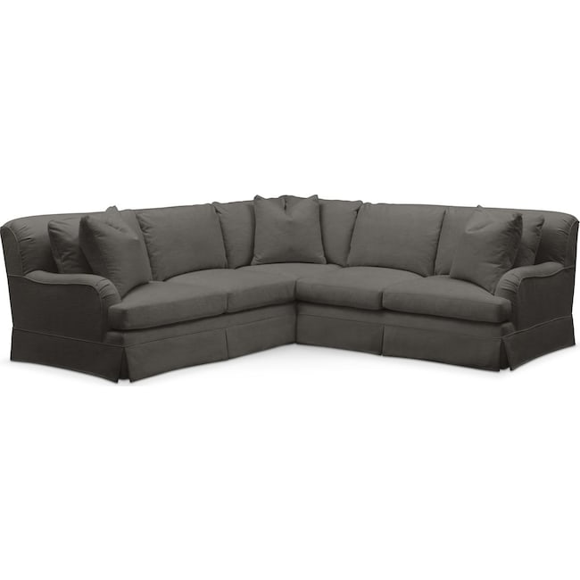 Living Room Furniture - Campbell 2 Pc. Sectional with Right Arm Facing Loveseat- Cumulus in Statley L Sterling