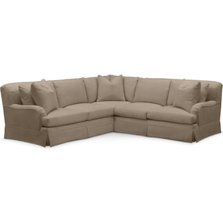 Campbell 2 Pc. Sectional with Right Arm Facing Loveseat- Cumulus in Statley L Mondo