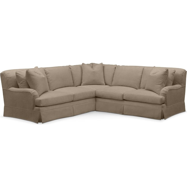 Living Room Furniture - Campbell 2 Pc. Sectional with Right Arm Facing Loveseat- Cumulus in Statley L Mondo