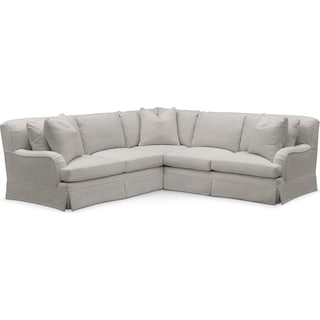 Campbell Cumulus 2-Piece Small Sectional with Right-Facing Loveseat - Dudley Gray