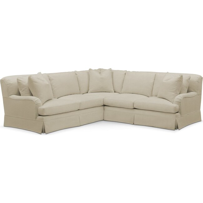 Living Room Furniture - Campbell 2-Piece Sectional with Right-Facing Loveseat - Cumulus in Abington TW Barley