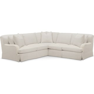 Campbell 2 Pc. Sectional with Right Arm Facing Loveseat- Cumulus in Anders Ivory