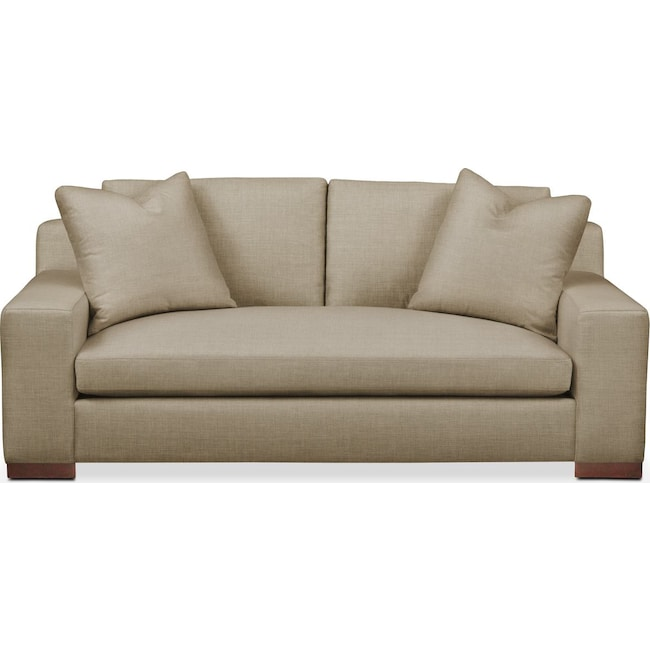 Living Room Furniture - Ethan Apartment Sofa- Comfort in Milford II Toast