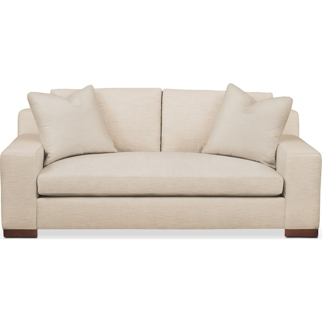 Living Room Furniture - Ethan Apartment Sofa- Comfort in Victory Ivory