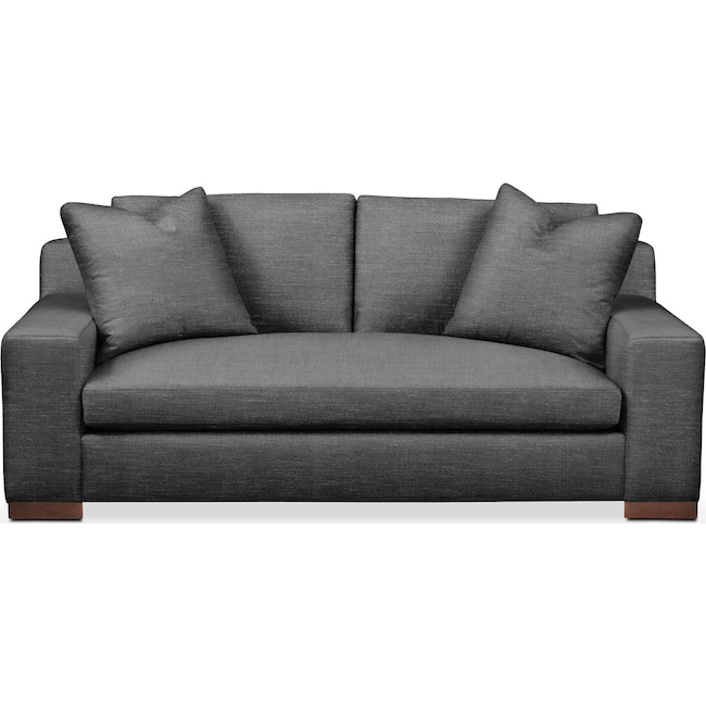 Living Room Furniture - Ethan Apartment Sofa- Comfort in Curious Charcoal