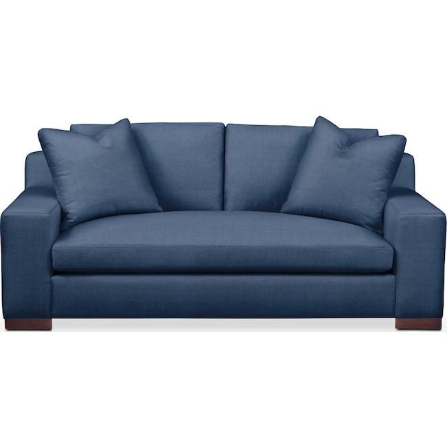Living Room Furniture - Ethan Apartment Sofa- Comfort in Hugo Indigo