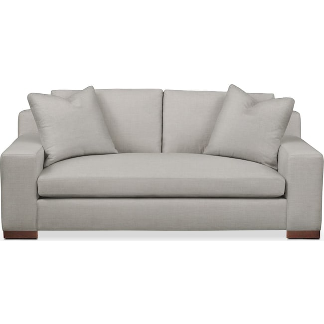 Living Room Furniture - Ethan Apartment Sofa- Comfort in Dudley Gray