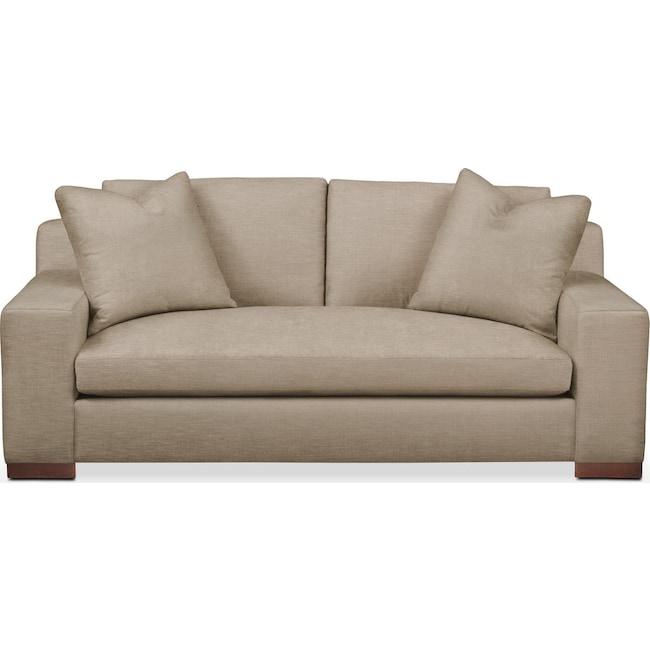 Living Room Furniture - Ethan Apartment Sofa- Comfort in Dudley Burlap