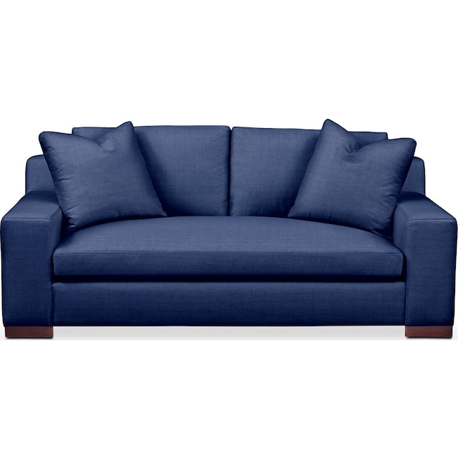 Living Room Furniture - Ethan Apartment Sofa- Comfort in Abington TW Indigo