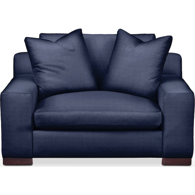Living Room Furniture - Ethan Chair and a Half- Comfort in Oakley III Ink