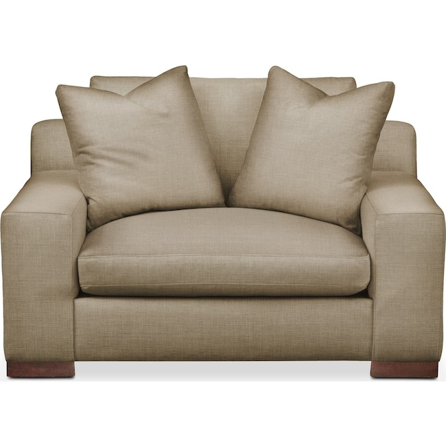 Living Room Furniture - Ethan Chair and a Half- Comfort in Milford II Toast