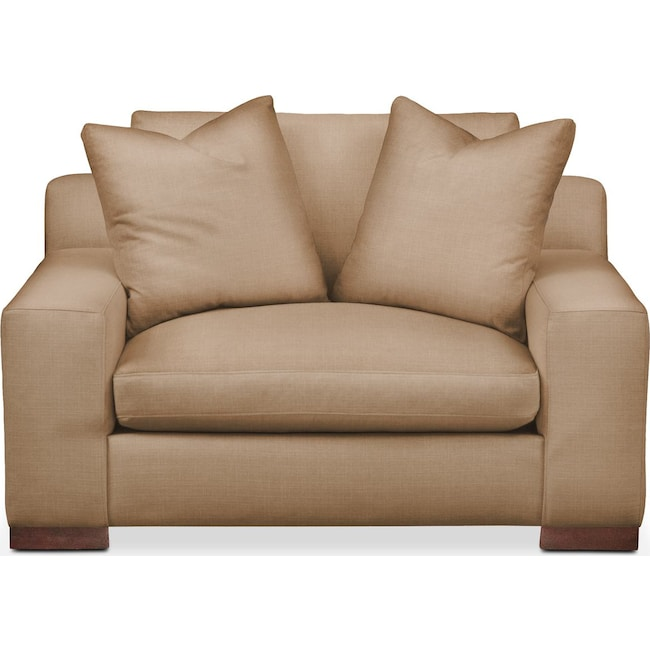 Living Room Furniture - Ethan Chair and a Half- Comfort in Hugo Camel