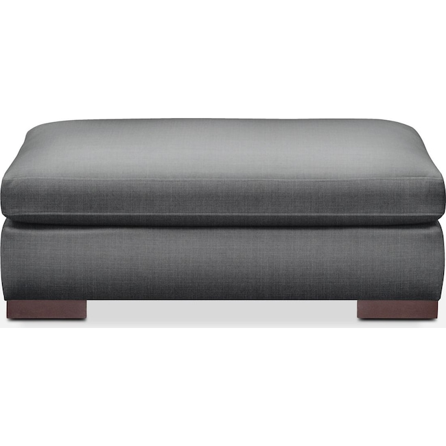 Living Room Furniture - Ethan Ottoman- Comfort in Depalma Charcoal