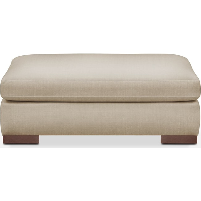 Living Room Furniture - Ethan Ottoman- Comfort in Depalma Taupe