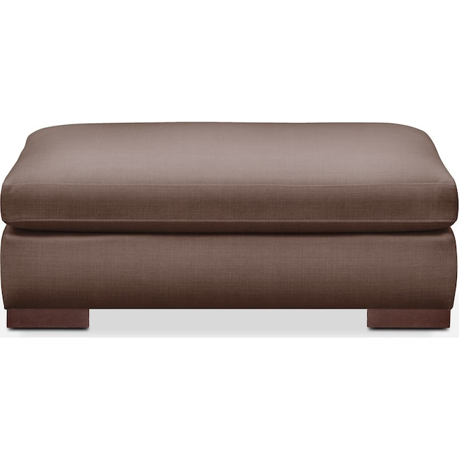 Living Room Furniture - Ethan Ottoman- Comfort in Oakley III Java