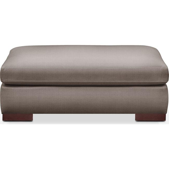 Living Room Furniture - Ethan Ottoman- Comfort in Oakley III Granite