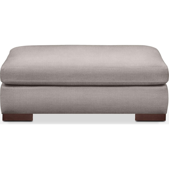 Living Room Furniture - Ethan Ottoman- Comfort in Curious Silver Rine