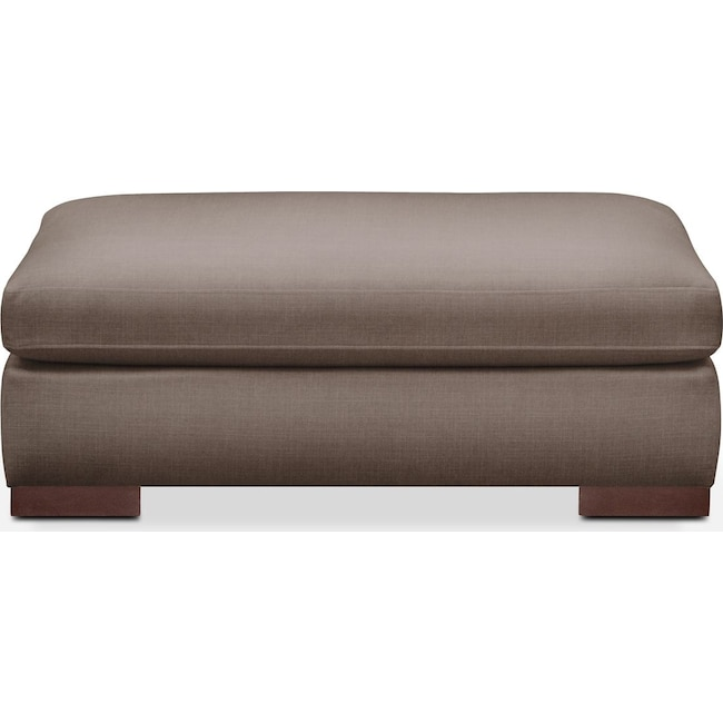 Living Room Furniture - Ethan Ottoman- Comfort in Hugo Mocha