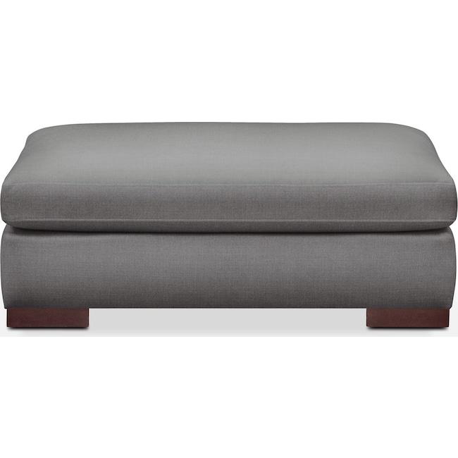 Living Room Furniture - Ethan Ottoman- Comfort in Hugo Graphite