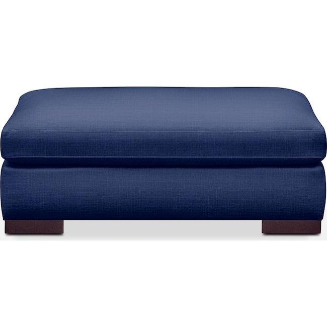 Living Room Furniture - Ethan Ottoman- Comfort in Abington TW Indigo