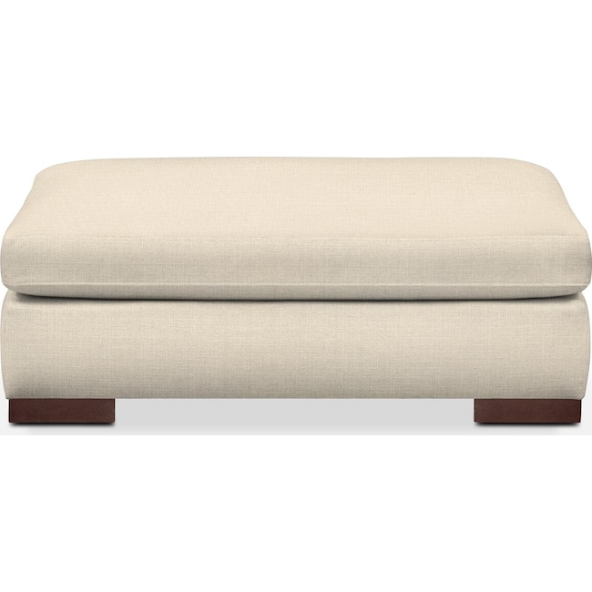 Living Room Furniture - Ethan Ottoman- Comfort in Anders Cloud