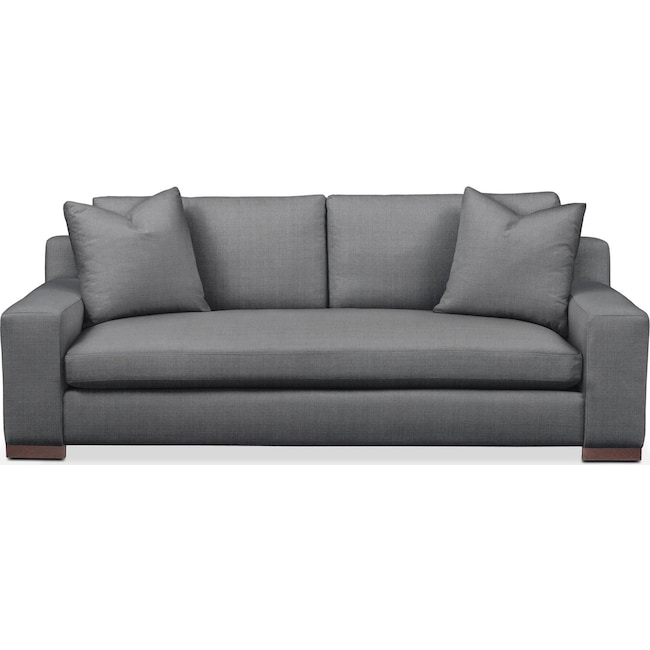 Living Room Furniture - Ethan Sofa- Comfort in Depalma Charcoal