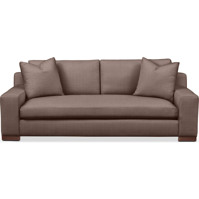 Living Room Furniture - Ethan Sofa- Comfort in Oakley III Java