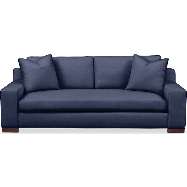 Living Room Furniture - Ethan Sofa- Comfort in Oakley III Ink