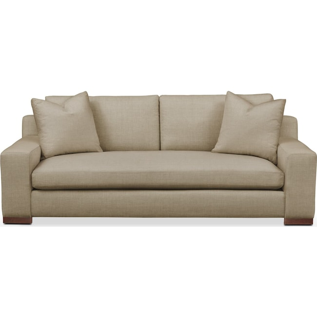 Living Room Furniture - Ethan Sofa- Comfort in Milford II Toast