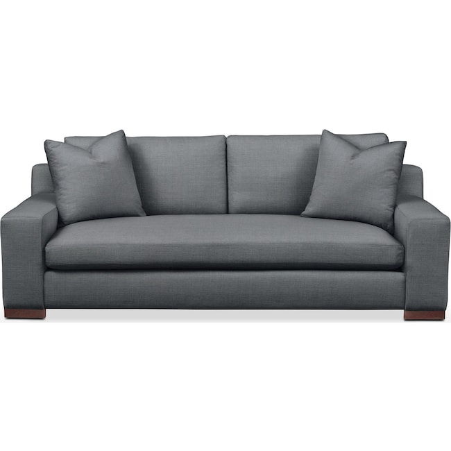 Living Room Furniture - Ethan Sofa- Comfort in Milford II Charcoal