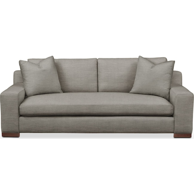Living Room Furniture - Ethan Sofa- Comfort in Victory Smoke